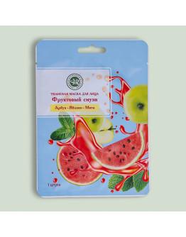 Тканевая маска для лица Фруктовый смузи с экстрактами арбуза, яблока, мяты