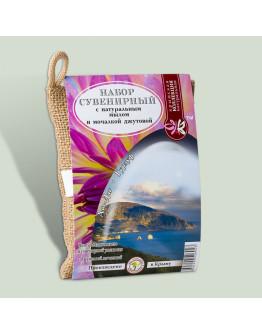 Набор сувенирный мочалка джутовая Аю-даг. Медведь-гора со стружкой из натурального мыла