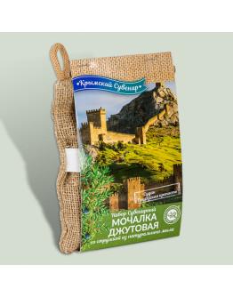 Набор сувенирный мочалка джутовая Судак. Генуэзская крепость со стружкой из натурального мыла