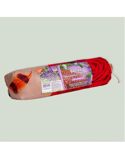 Валик-подушка для сна и отдыха гречишный с лавандой 30Х8 см
